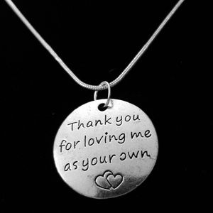 Thank You For Loving Me .925 Sterling Silver Chain